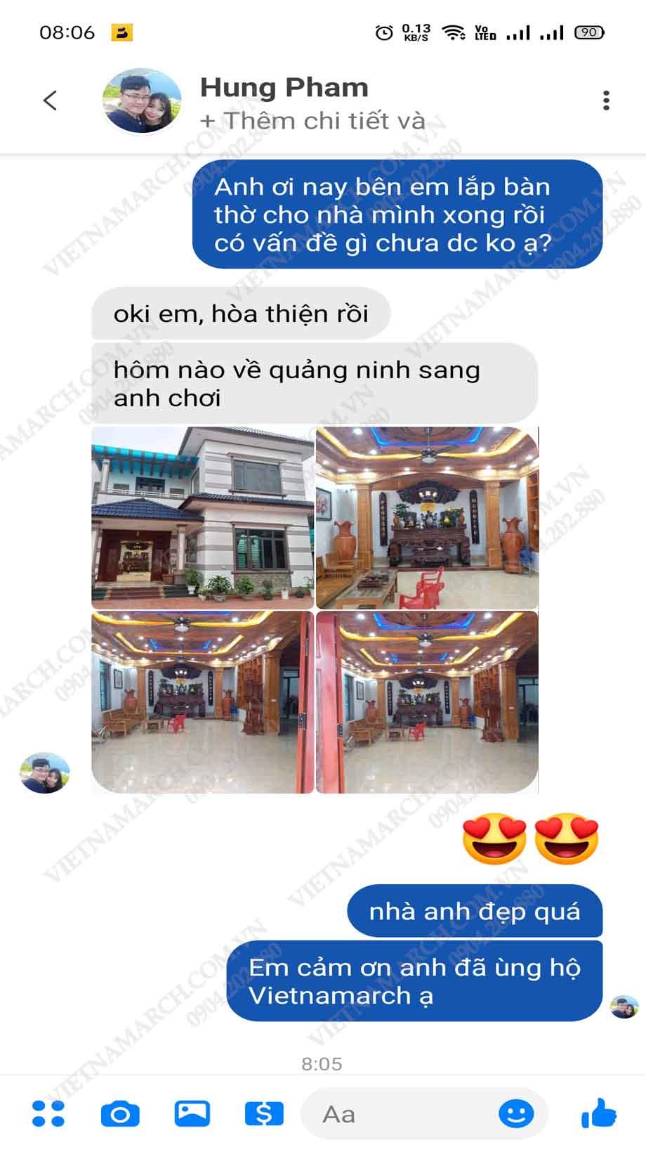 Feedback của anh Hưng khi mua án gian tại Vietnamarch cho căn biệt thự gia đình ở Quảng Ninh
