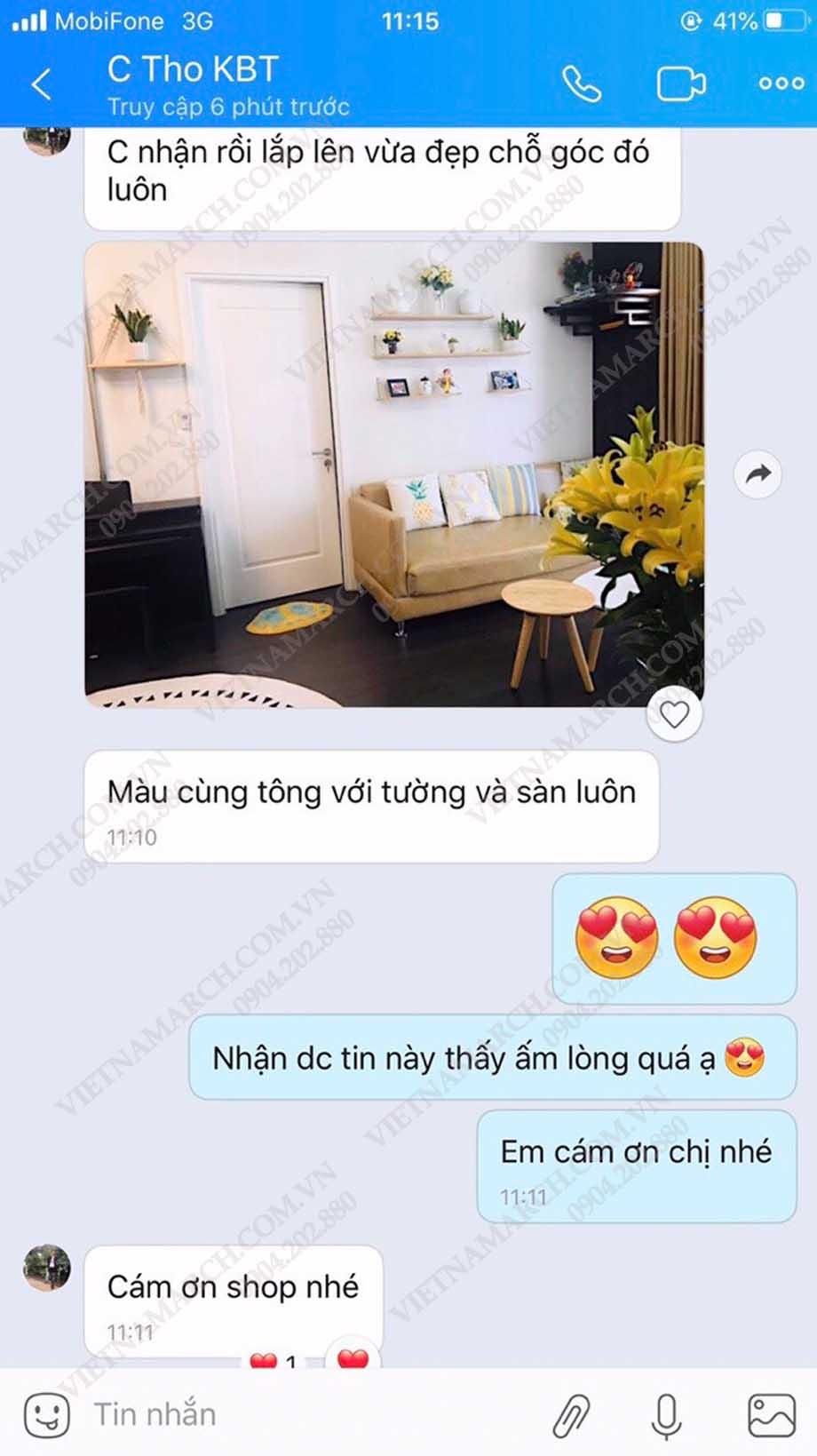 Feedback khách hàng của chị Tho tại chung cư Vinhome Smart City Tây Mỗ