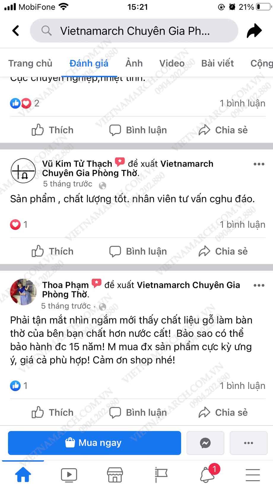 Những đề xuất của khách hàng đối với bàn thờ Vietnamarch