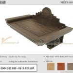 Ấn tượng mẫu bàn thờ treo tường gỗ gụ 48x88cm màu óc chó nhạt độc quyền tại Vietnamarch – BTT17