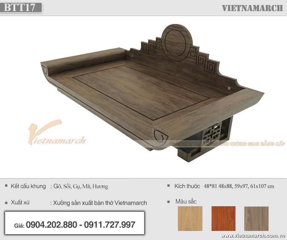 Bàn thờ treo gỗ mít có ngăn kéo