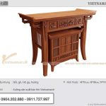 Mẫu thiết kế bàn thờ BTD27 – Vietnamarch nhận thiết kế theo yêu cầu riêng của gia chủ