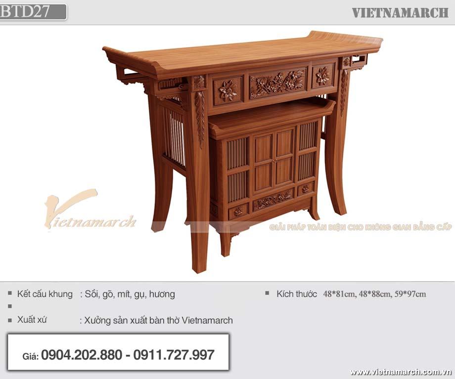 Mẫu thiết kế bàn thờ BTD27