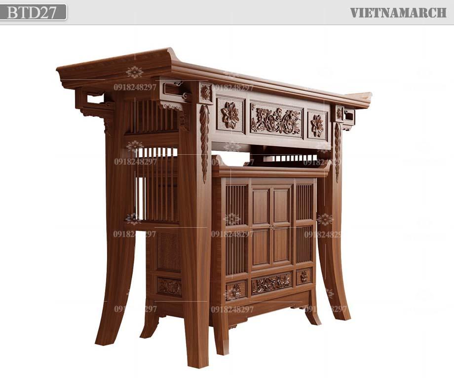 thiết kế bàn thờ chung cư