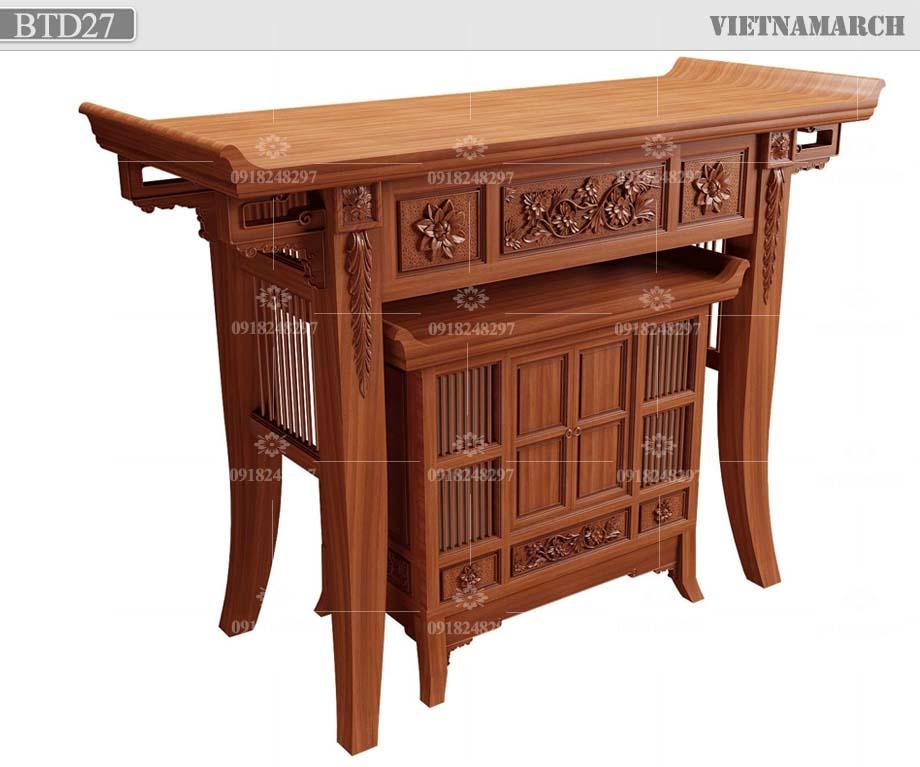 thiết kế bàn thờ hiện đại BTD27