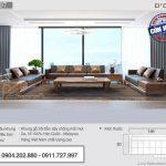 Mẫu sofa gỗ sồi Mỹ cho phòng khách lớn – Mã SFG-07