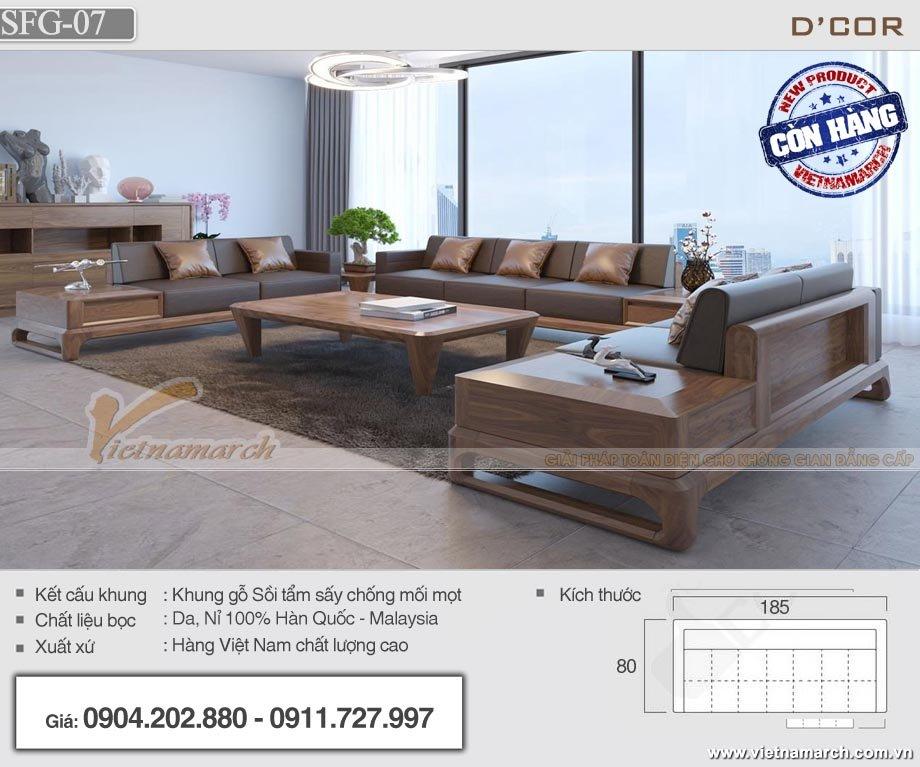 Mẫu sofa gỗ sồi Mỹ tẩm sấy chống mối mọt