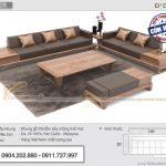 Mẫu sofa gỗ sồi Nga giá rẻ hiện đại – Mã SFG-08