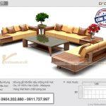 Mẫu sofa gỗ văn phòng SFG-09 chữ U sang trọng và cuốn hút