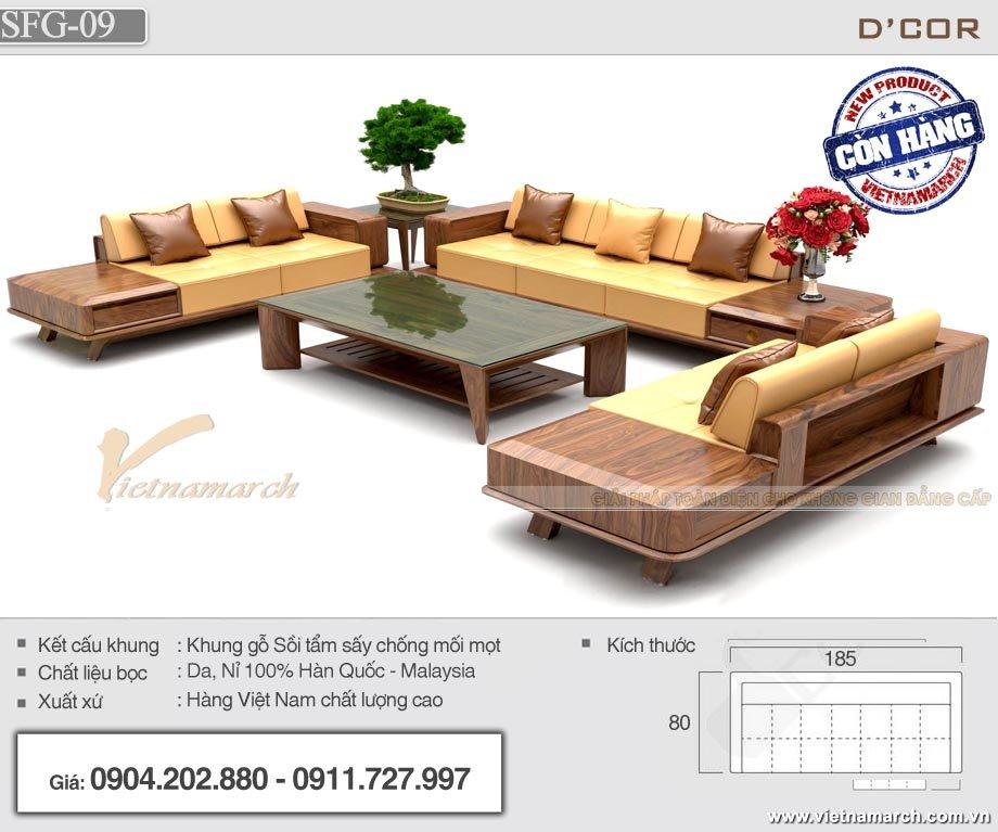 Mẫu sofa gỗ văn phòng SFG-09 hàng Việt Nam chất lượng cao