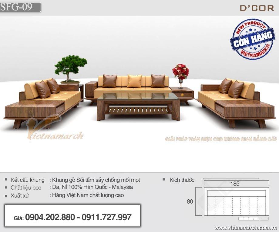 Mẫu sofa gỗ văn phòng SFG-09