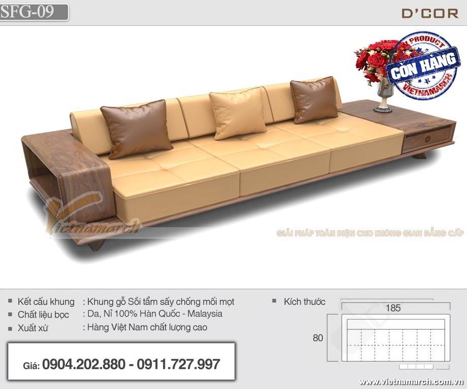 Mẫu sofa gỗ văn phòng SFG-09 có chất lượng vượt trội