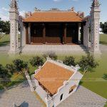 Thi công nội thất nhà thờ họ gỗ Lim Nam Phi 120m2