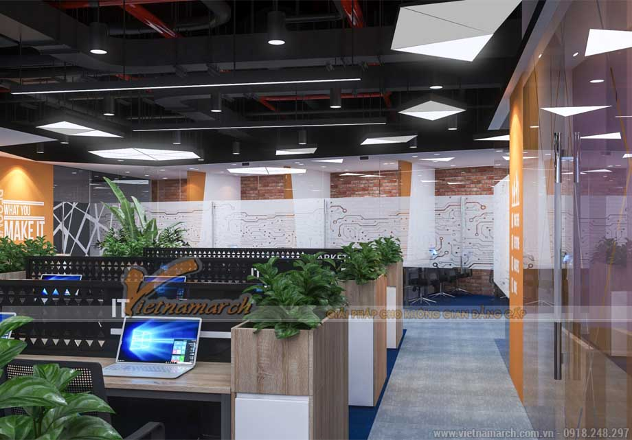 Thiết kế thi công nội thất văn phòng 270m2 - 280m2 - 290m2 tại Tây Hồ Hà Nội