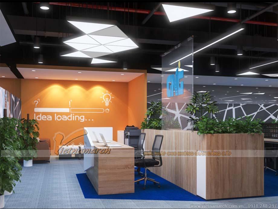 Thiết kế văn phòng 270m2 tại tòa nhà Dolphin Nguyễn Hoàng Hà Nội - GNG Media