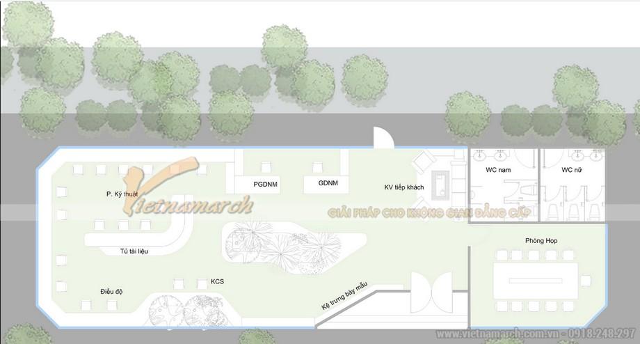 Thiết kế văn phòng công ty HP Hưng Yên
