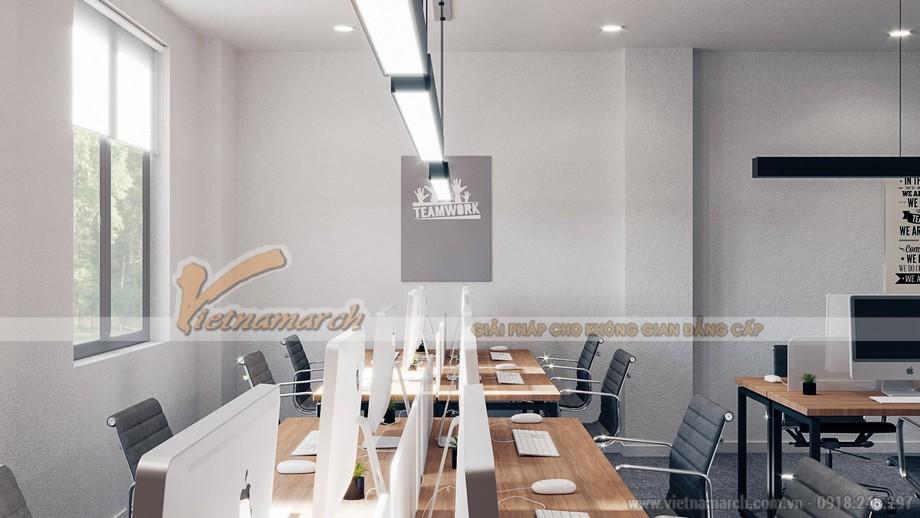 Thiết kế nội thất văn phòng xây dựng THT