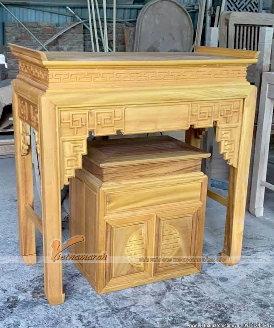 Bàn thờ đứng gỗ mít màu cánh gián hiện đại