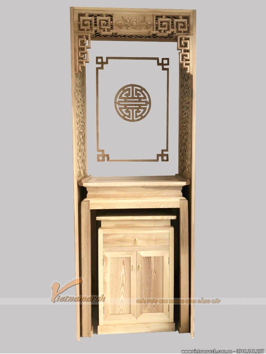 Bàn thờ đứng màu trần sồi cho chung cư