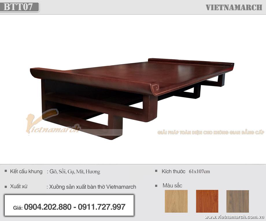 Bàn thờ treo 61x107cm gỗ hương hiện đại tại Bắc Giang