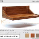 Mẫu bàn thờ treo hiện đại gỗ sồi màu cánh gián kích thước 48×81 cho chung cư tại Thanh Xuân – BTT01