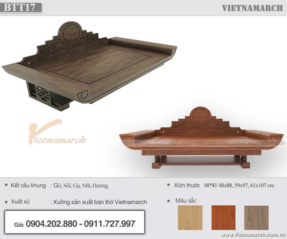 Bàn thờ treo gỗ mít có ngăn kéo 59x97 cm cho chung cư, nhà phố - BTT17