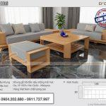 Mẫu sofa gỗ bọc vải nỉ Malaysia chất lượng cao – SFG17
