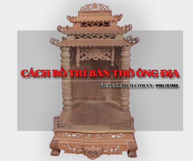 Cách bố trí bàn thờ ông Địa