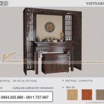 [HÀNG ĐẶT] Mẫu bàn thờ đứng 1m53 gỗ sồi màu gụ tại Hải Phòng