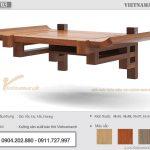 Sự mới lạ trong thiết kế mẫu bàn thờ treo tường gỗ gõ cho chung cư hiện đại – BTT03