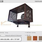 Mẫu bàn thờ treo màu óc chó 61×107 cm gỗ hương cho chung cư Sky Garden Minh Khai – BTT05