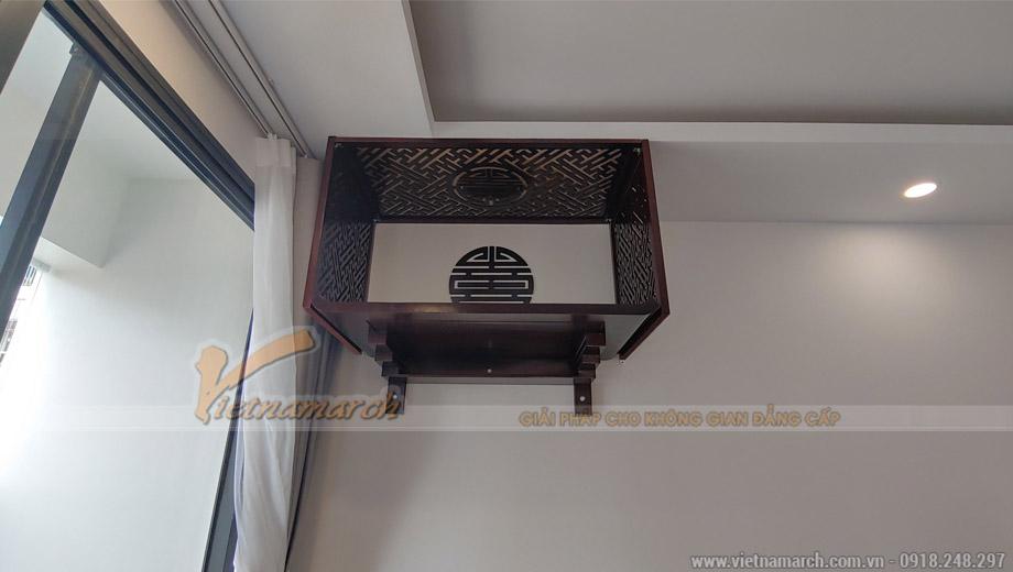 Mẫu nội thất phòng thờ đẹp gỗ hương cho nhà lô, nhà ống, nhà phố