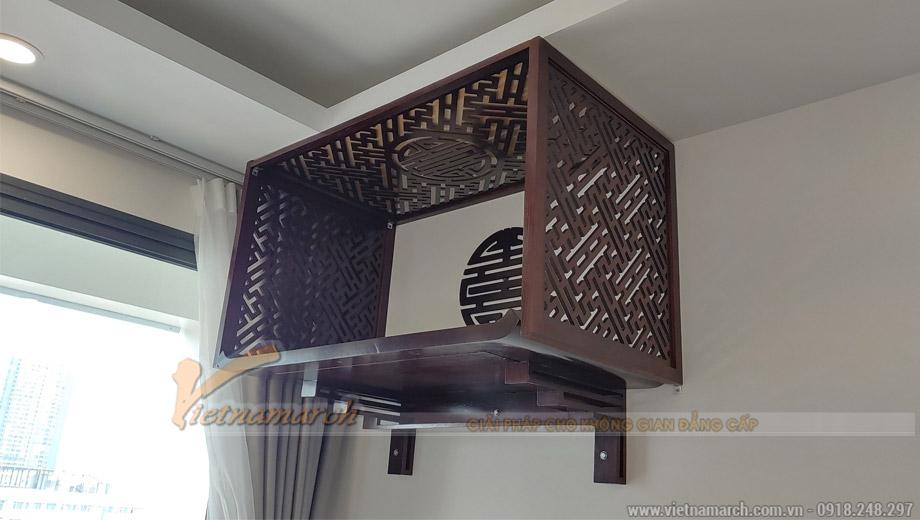 Mẫu bàn thờ treo màu óc chó 61x107 cm gỗ hương