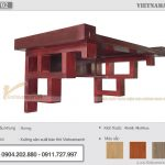 Mẫu bàn thờ treo tường 48×69 cm gỗ hương cho gia chủ tại Nguyễn Văn Cừ – Long Biên – BTT02