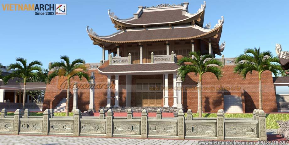 Mẫu thiết kế đình chùa rộng 800m2
