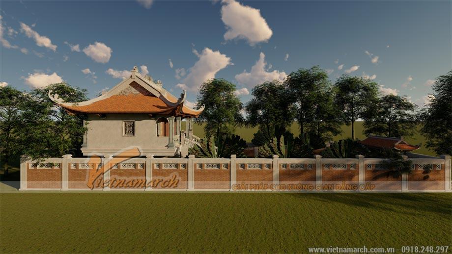 Mẫu thiết kế nhà thờ họ 80m2 4 mái cong truyền thống tại Thanh Hóa