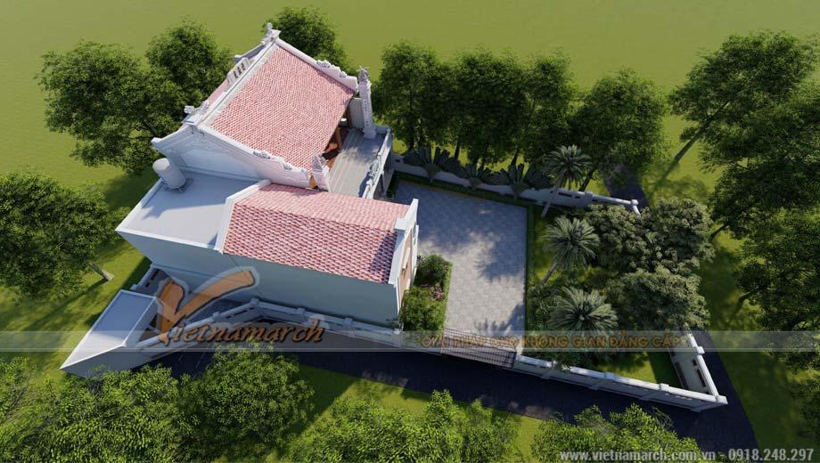 Mẫu thiết kế nhà thờ họ kết hợp nhà ở diện tích 90m2 tại Bắc Ninh