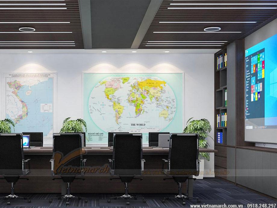 Mẫu thiết kế nội thất văn phòng 40m2