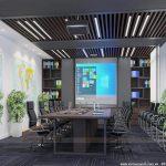 [PA1] Mẫu thiết kế nội thất văn phòng 40m2 – Văn phòng Đại sứ quán Singapore