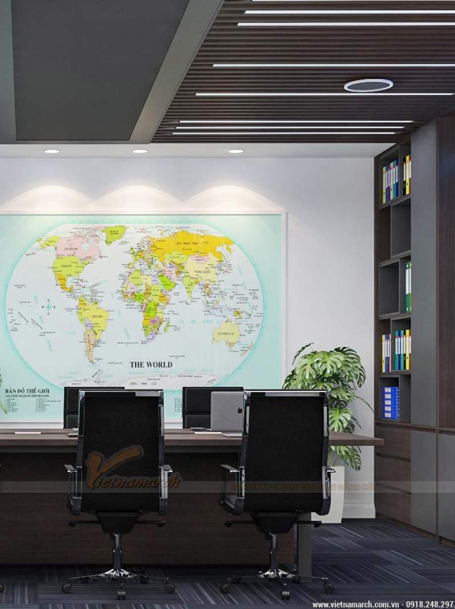 Thiết kế văn phòng 40m2 đại sứ quán singapore