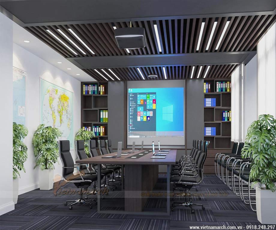 Mẫu thiết kế nội thất văn phòng 40m2 đại sứ quán singapore