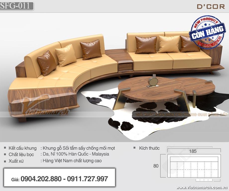 Mẫu sofa gỗ chữ J - SFG11