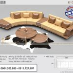Mẫu sofa gỗ chữ J kích thước 3m5x2m5 – SFG11