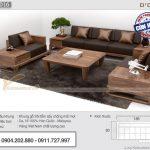 Bộ sofa gỗ có ngăn kéo băng ghế dài 2m6 hàng cao cấp – SFG16