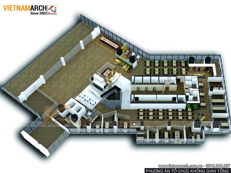 Thiết kế nội thất văn phòng coworking space 2000m2