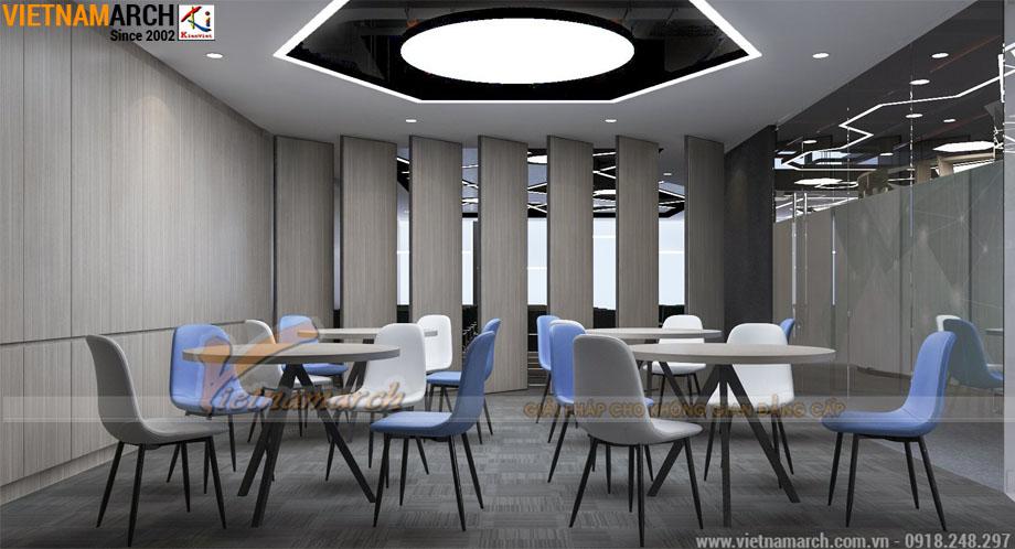 Thiết kế văn phòng 150m2 công ty Golden Net số 6 Nguyễn Hoàng