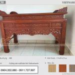 Án gian gỗ mít 1m75 chân 12 cao cấp – mẫu bàn thờ truyền thống mang cát lợi BTD30