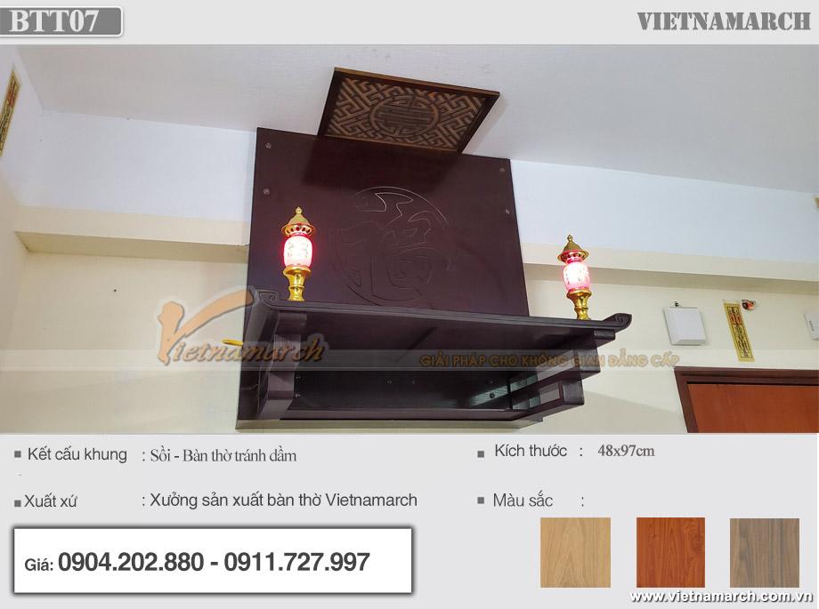 Bộ bàn thờ treo 48x97cm
