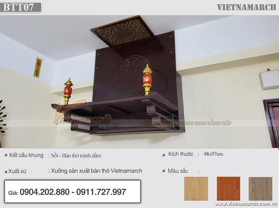 Hóa giải xà ngang trên bàn thờ tại chung cư Thạch Bàn - Long Biên