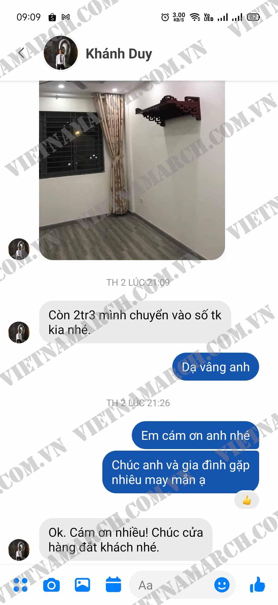 Cảm nhận của anh Khánh về mẫu bàn thờ treo BTT19 Vietnamarch